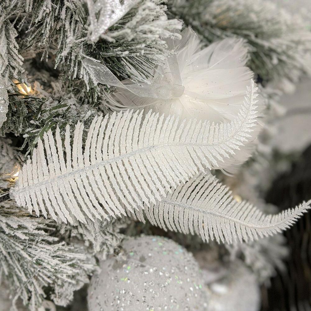 6 Teile/satz Mode Neue Federn Weihnachten Baum Ornament Zubehör Home Party Dekoration Hochzeit Decor Plumes Für Weihnachten Cente X4L7