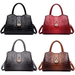 Image 2 - DIINOVIVO, bolsos de mano Vintage de cocodrilo para mujer, de piel sintética de alta calidad, bolsos de hombro para mujer, de marca famosa bolso cruzado, nuevo WHDV1225