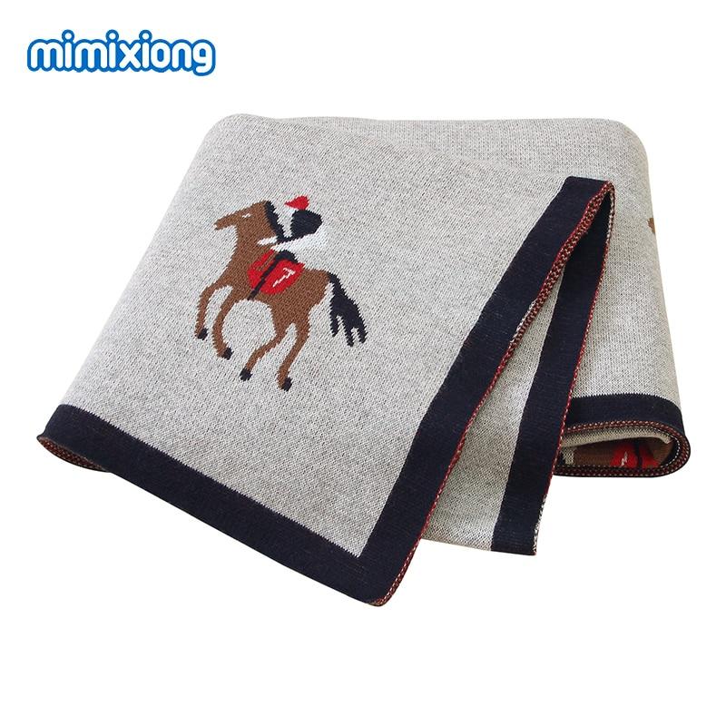 Baby Blankets 100%Cotton Knitted Newborn Infant Bebes Swaddle Wrap Envelope For Stroller Bedding 100*80cm Toddler Kid Sleep Sack