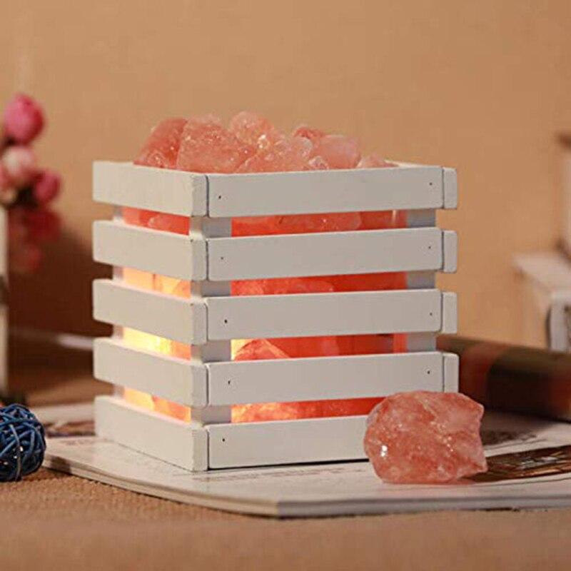 Top-Artificial Crystal Rock Heating Natural Himalayan Salt Lamps Bedroom Bedside Wall Lamp Living Room Wall Corridor Lamp EU Plu