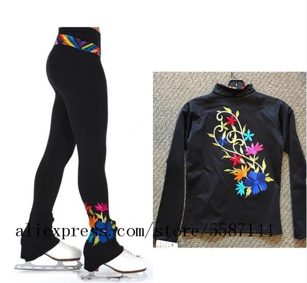 Ice Skating Suit Girls Figure Skating Trousers Tranning Ice Suits Gilrs Boys Ice Skating Clothes Free Shipping