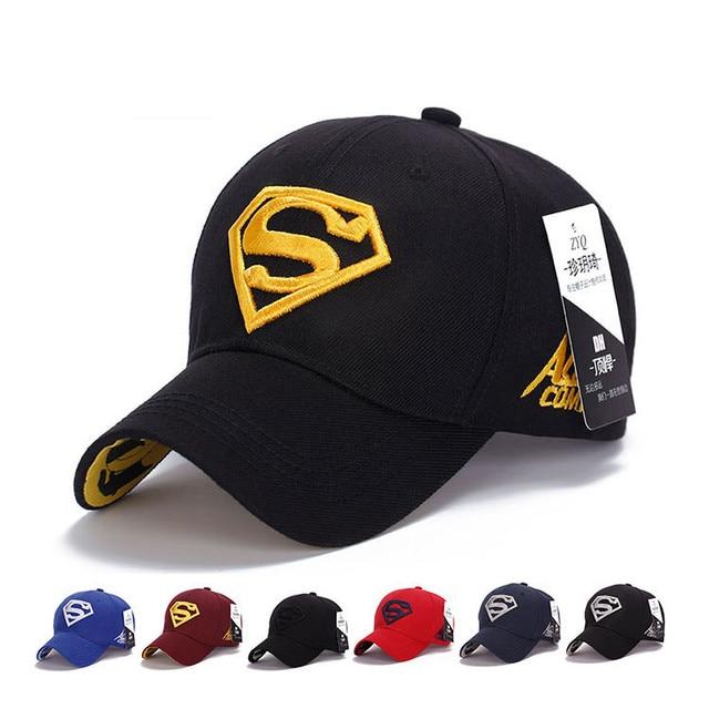 New Fashion Gorras Superman Hat Casquette Superman Baseball Cap Men Brand Women Bone Diamond Snapback Cap For Adult Trucker Hat