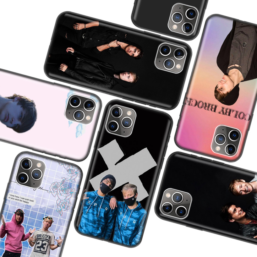 Sam Colby Black Case for Apple iPhone 11 Pro XR 7 8 6 6S Plus X XS MAX 5 5S SE Soft TPU Silicone Phone Cover Case