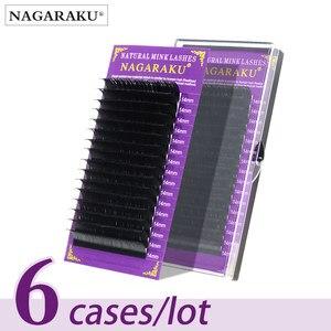 NAGARAKU Eyelashes Make Up Maquiagem Individual Eyelash 6 Cases set High Quality Soft mink Nature Lashes Premium Faux Cils