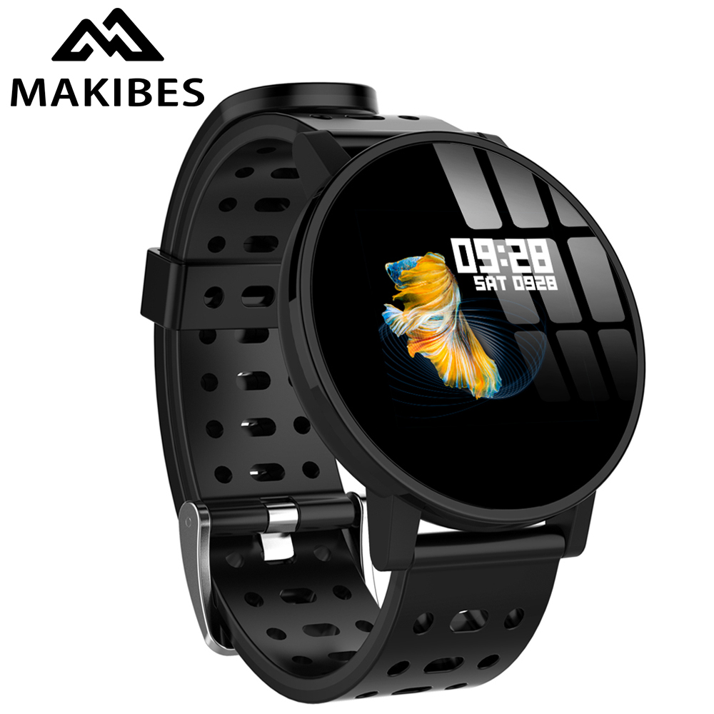 Makibes T3 IOS Android Smart Watches Men Women HR Blood Oxygen Blood Pressure IP67 Waterproof Activity Fitness Tracker PKV11-in Smart Watches from Consumer Electronics