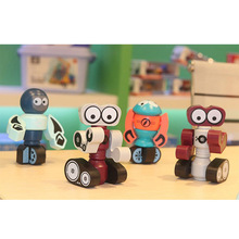 Creative Early Education Parent-Child Interactive Magnetic Robot Selling Interesting Children's Toys At The Age of 0-1-3 early age thermal movements of mass concrete constructions