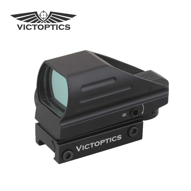 $  VictOptics 1x22x33 Hunting Compact Red Dot Sight Scope Four Reticle Shock Proof for Real Firearms & Airsoft