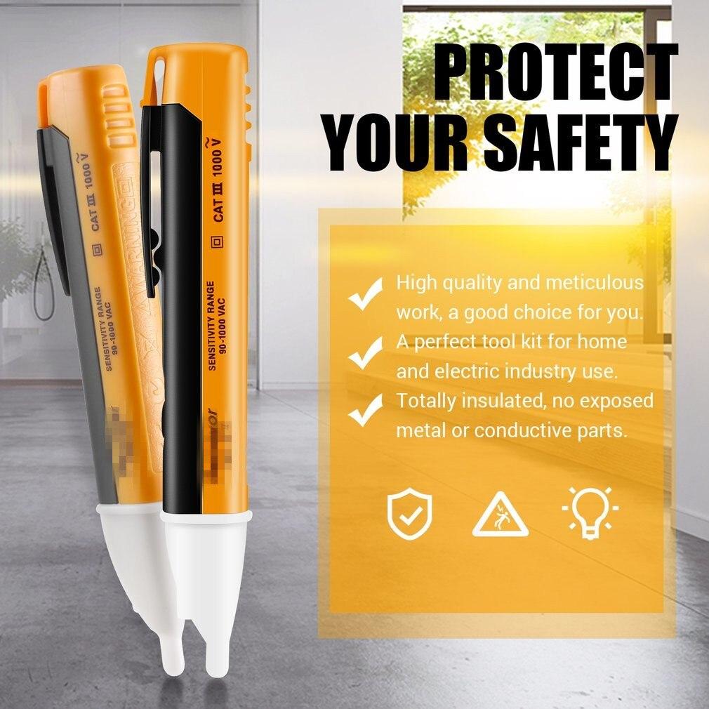 1PCS Electric Indicator 90-1000V Socket Wall AC Power Outlet Voltage Detector Sensor Tester Pen LED Light Test Pencil Drop Ship