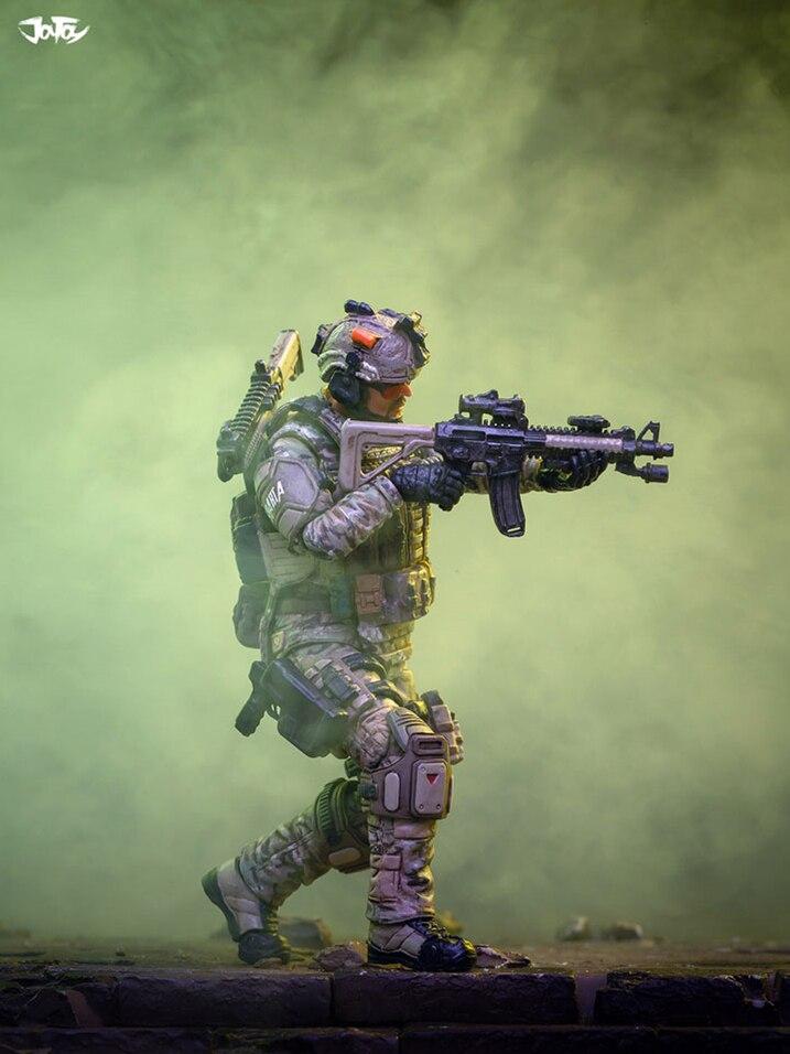 JOYTOY 1/18 Action Figure Us Soldier PVC Unpainted And Unassembled Model Kit