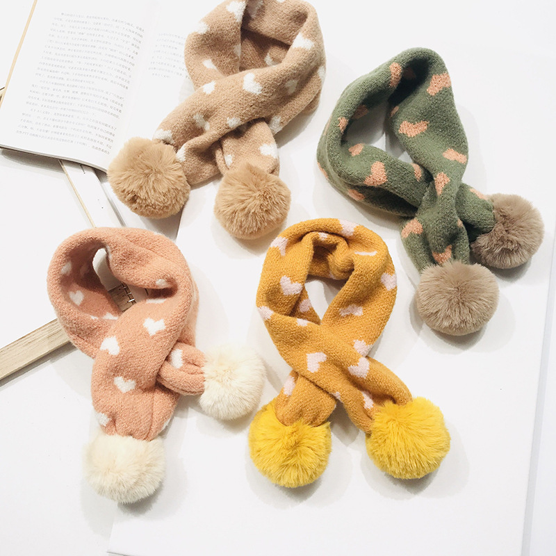 PPXX 2019 Winter Baby Fur Scarf Children Scarves Faux Rabbit Fur Neck Warmers Kids Scarf Fur Ball Girls Boys Bufanda Bebe