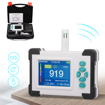 FOSHIO Carbon Dioxide Detector Meter Portable CO2 Monitor Sensor Air Quality Monitor Public Industrial Agriculture Gas Air Meter protable carbon dioxide detector air quality meter monitor gas analyzer reliable digital co2 sensor meter air quality tester