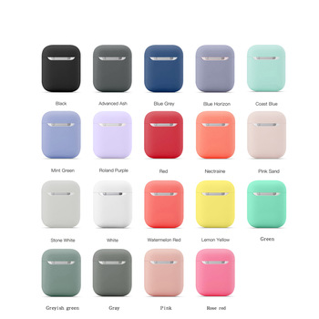 In Stocks New Silicone Cases for Airpods1 2nd Luxury Protective Earphone Cover Case for Apple Airpods Case 1&2 Shockproof Sleeve
