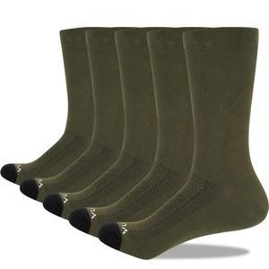 Image 3 - YUEDGE Mens Socks Breathable Combed Cotton Crew Casual Dress Socks Summer Socks 5 Pairs 37 46 EU