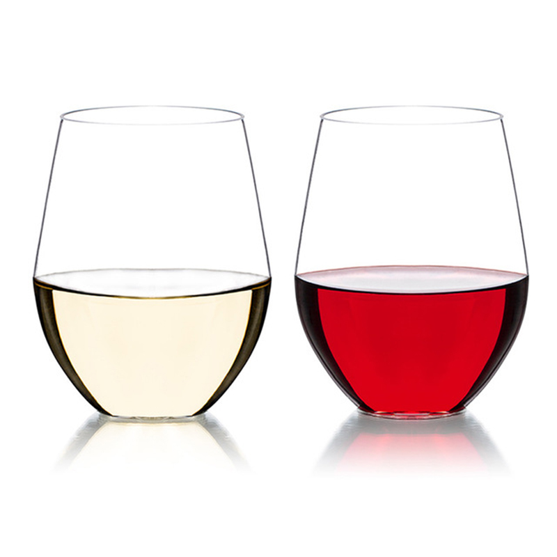 2Pcs פלסטיק יין זכוכית שמפניה חלילי כוסות בית מסיבת חתונה בר מיץ יין שתיית Unbreakable משקפיים מתנות 470ml