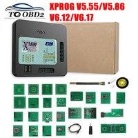 Nuevo X-Prog-M Xprog m V5.55 V5.86 V6.12 V6.17 con Chip ECU Tunning programador X Prog M caja V 5 86 XPROG-M 5 55 sin Dongle USB
