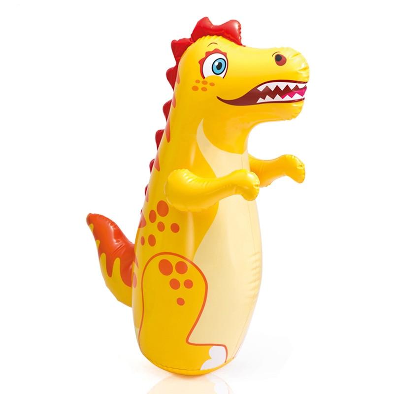 Intelligent Development Cute Inflatable Tumbler Toy 3D Cartoon Animal Boxing Bag