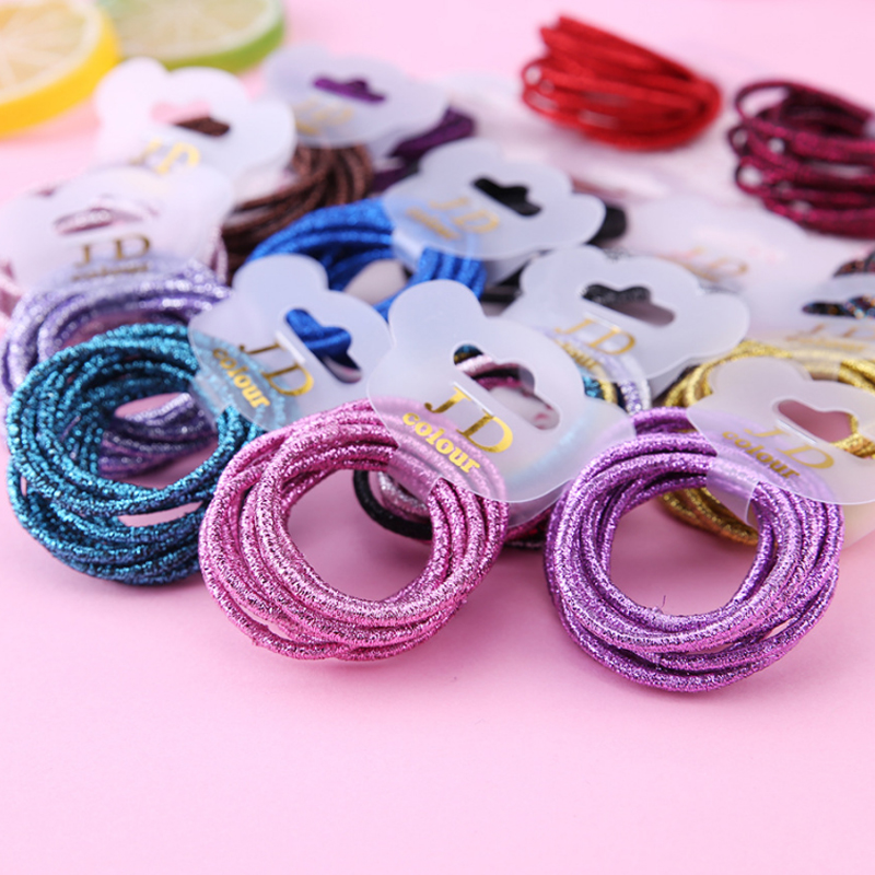 Sale Hair Rope Elastic 10PCS/Set Rubber Band 20 Colors New Cute Colorful Candy Color Girls Hair Bands Woman Hair Accessories