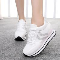 2018 spring and autumn students shoes increased shoes low cut thick bottom casual travel shoes tide