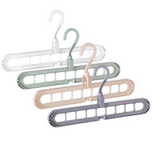 9-Hole Magic 360° Rotating Hanger Extendable Space Saving Folding Hook Rack