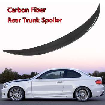 E82 Spoiler Wing Real Carbon Fiber Car Rear Trunk Boot Lip Spoiler Wing Lid For BMW E82 E88 120i 128i 135i For Coupe 2007-2012 image