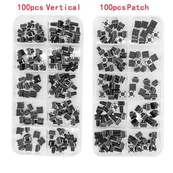 100 PCS box of Tact Switch 4-legged vertical / patch 6*6*4.1/4.3/5/6/6.5/7.5/8/9.3/10.5/12mm Micro Push Button Switch Key Switch 100 pcs box of tact switch 4 legged vertical patch 6 6 4 1 4 3 5 6 6 5 7 5 8 9 3 10 5 12mm micro push button switch key switch