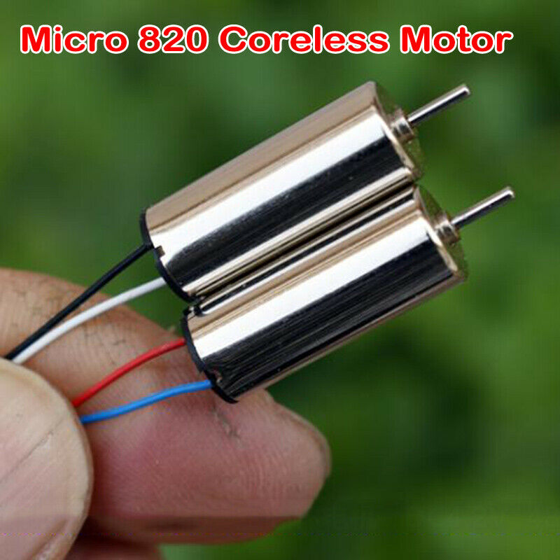 2PCS Micro Mini 820 Coreless Motor DC 3V 3.7V High Speed NdFeB Large Torque Small Hollow Cup CW CCW RC Airplane Drone Airplane image