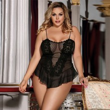 Sexy Plus Size Women Embroidery Lace Sexy Lingerie Underwear Pajamas Sleepwear Female Sleepwears Lace Nightdress Clothing New cheap Polyester Square Collar Sleeveless Solid Natural Color Four seasons Sexy Nightdress home night club Valentine s Day etc
