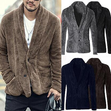 Men's Fashion Business Jacket gentleman Winter Wool Blends C