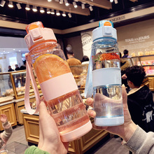 Water-Bottle Plastic Bpa-Free Outdoor Sports 700ml Travel Transparent Portable Leak-Proof