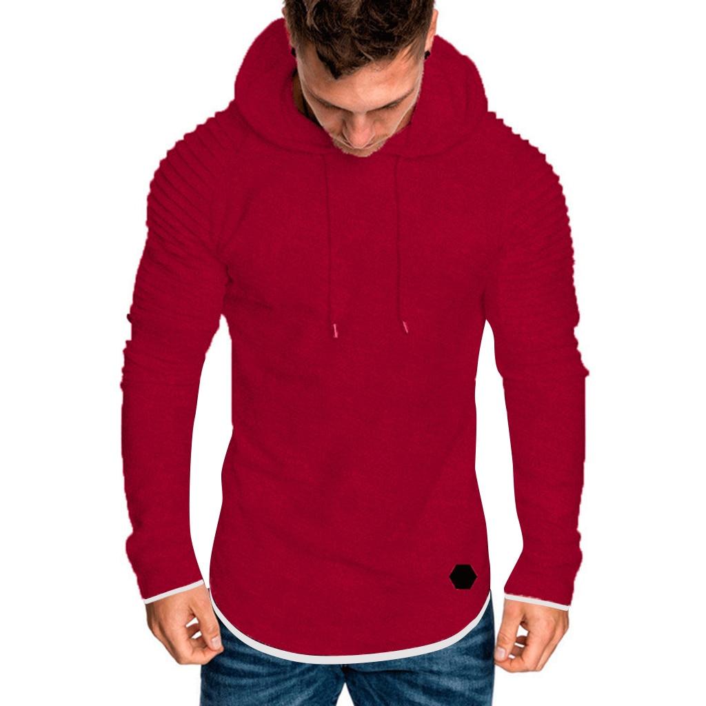 Hca3bba9e0d304fc083392eedb9504064t Men Hoodies Sweatshirts 2019 Autumn Pleats Slim Fit Raglan Long Sleeve Hoodie Tops Men Solid Hoodie Pullover Men Outerwear Tops