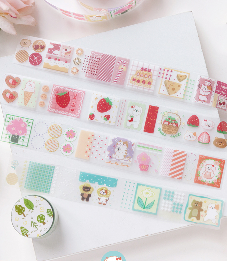 6 Designs Mixed Sweet Life Washi Tapes Set 30mm*3m