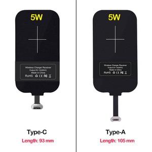 Image 3 - Qiไร้สายชาร์จสำหรับSamsung Galaxy S8 S9 S10 S20หมายเหตุ8 9 10 Plus A6 A8 A40 A50 A60 a70s Charger Micro USBประเภทCตัวรับสัญญาณ