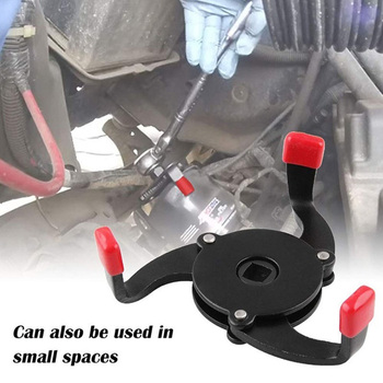 Universal One Way 3 Jaw Auto-Adjust Oil Filter Wrench Oil Filter Wrench Tool 3 Jaw Remover Tool for Cars Filter Removal Tool