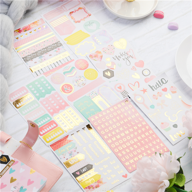 Lovedoki Cute Girly Planner Accessories Stickers Book Scrapbooking Label Handmade Sticker Diary Diy Stationery School Supplies