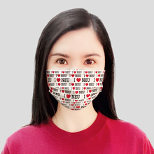 50Pcs/lot Customized Unique Disposable Hello Love Plaid Face Mask 3-Layers Anti Dust Anti-Haze Mouth Protective Cycling Mask