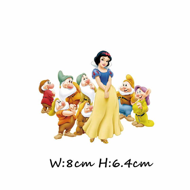 1 pçs personagem dos desenhos animados princesa ariel elsa figura rapunzel ferro na roupa transferência térmica diy adesivo vestuário decoração remendo