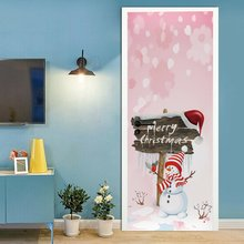 2 шт/компл Рождество Снеговик декоративные двери холодильника