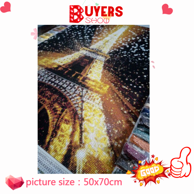 HUACAN 5D Diamond Painting Full Square Eiffel Tower Rhinestone Picture Embroidery Sale Diamond Mosaic Cross Stitch