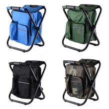 Outdoor Fishing Chair Bag Folding Camping Stool Portable Backpack Cooler Insulated Picnic Bag Hiking Seat Table Bag