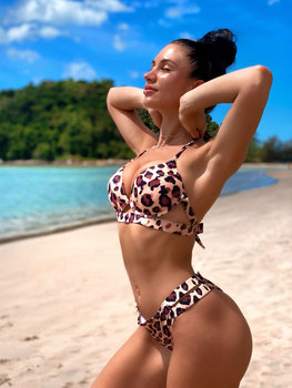 Andzhelika Bikini Set in Solid Colors or Leopard Print 13