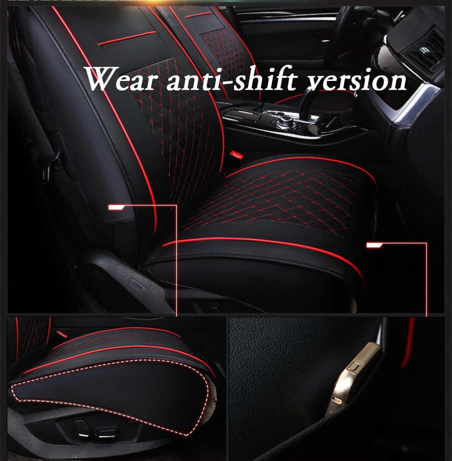 Sadece 1 ADET ön koltuk Özel Deri araba koltuğu kapakları Toyota Corolla Camry Için Rav4 Auris Prius Yalis Avensis SUV oto aksesuarları