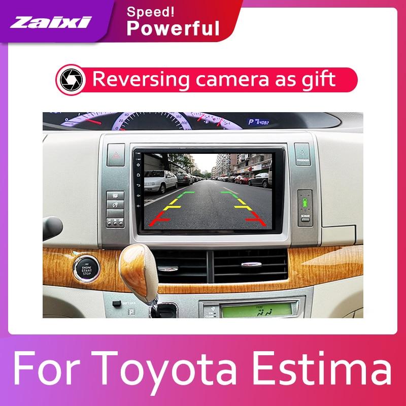ZaiXi 2din Car multimedia Android Autoradio Car Radio GPS player For Toyota Estima Aeras 2006 2012 Bluetooth WiFi Mirror link in Car Multimedia Player from Automobiles Motorcycles