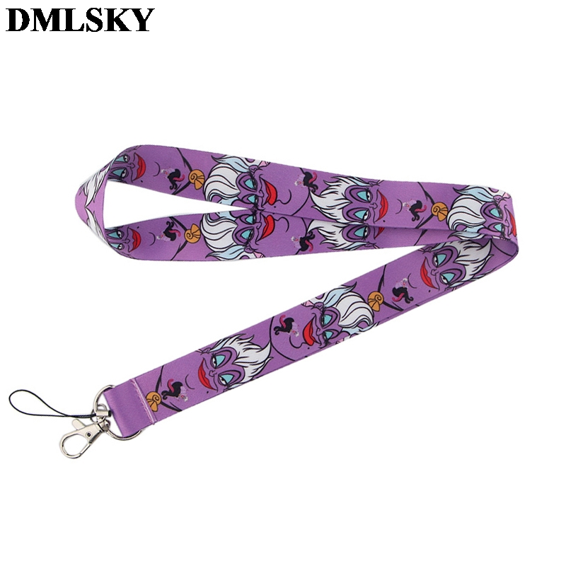 DMLSKY Funny Ursula Lanyard Keychain Cartoon Lanyards For Keys Badge ID Mobile Phone Rope Neck Straps Accessories Gifts M3863