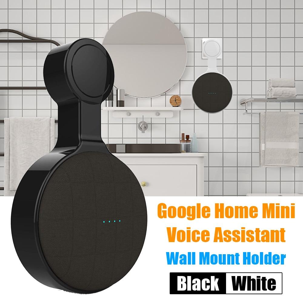 Wall Mount Holder Stand Hanger For Google Home Mini Voice Assistant Indoor Speaker Sound Box Holder Case For EU & US Plug
