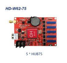 HD W62 75 Hub75Bพอร์ตขนาดเล็กGraphic LEDสมาร์ทการตั้งค่าทำงานสำหรับP4 P5 P10 สีโมดูล
