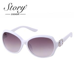 Женские винтажные солнцезащитные очки STORY, брендовые дизайнерские очки в оправе из поликарбоната с бабочками и белыми пуговицами, uv400, S2114, ...