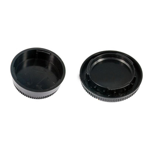 Image 2 - 50Pairs camera Body cap + Rear Lens Cap Hood Protector voor nik & n SLR/DSLR