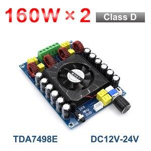 Image 2 - TDA7498E 160 ワット * 2 オーディオデジタルパワーアンプボードクラス d デュアルチャンネルステレオ TDA7498 サブウーファーステレオホームシアターアンプ