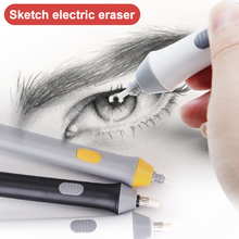 Auto-Eraser-Pen with 5mm Refills Battery-Operated Painting-Accessory Stationery UY8 Adjustable