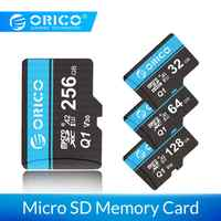 ORICO Mini Micro SD tarjeta de memoria 32GB 64GB 128GB 256gb MicroSD Max 80 M/s SD/TF tarjeta Flash cartao de memoria